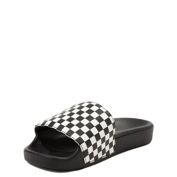 alternate view Vans Slide On Checkerboard Sandal - Little Kid / Big Kid - Black / WhiteALT3