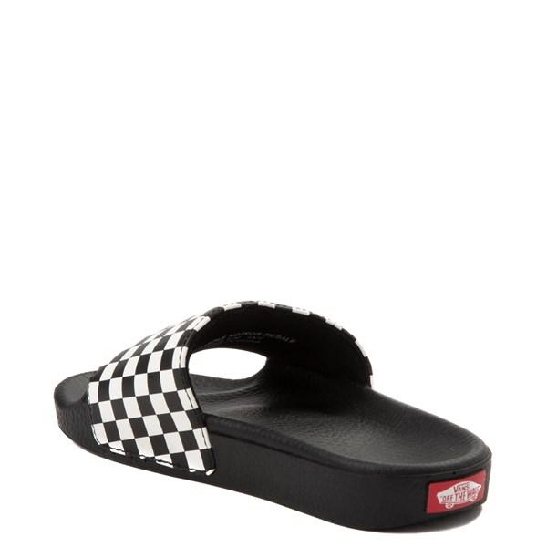alternate view Vans Slide On Checkerboard Sandal - Little Kid / Big Kid - Black / WhiteALT2