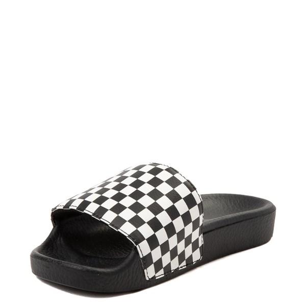 alternate view Vans Slide On Checkerboard Sandal - Little Kid / Big Kid - Black / WhiteALT3