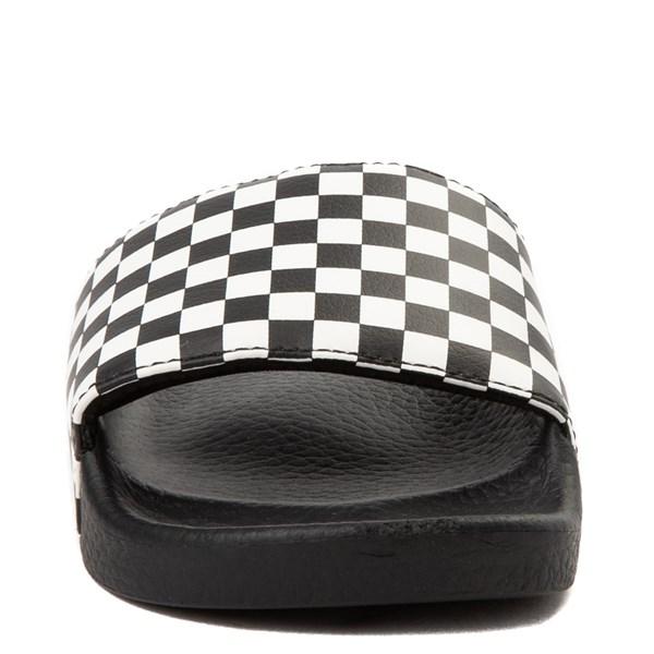 alternate view Vans Slide On Checkerboard Sandal - Little Kid / Big Kid - Black / WhiteALT4