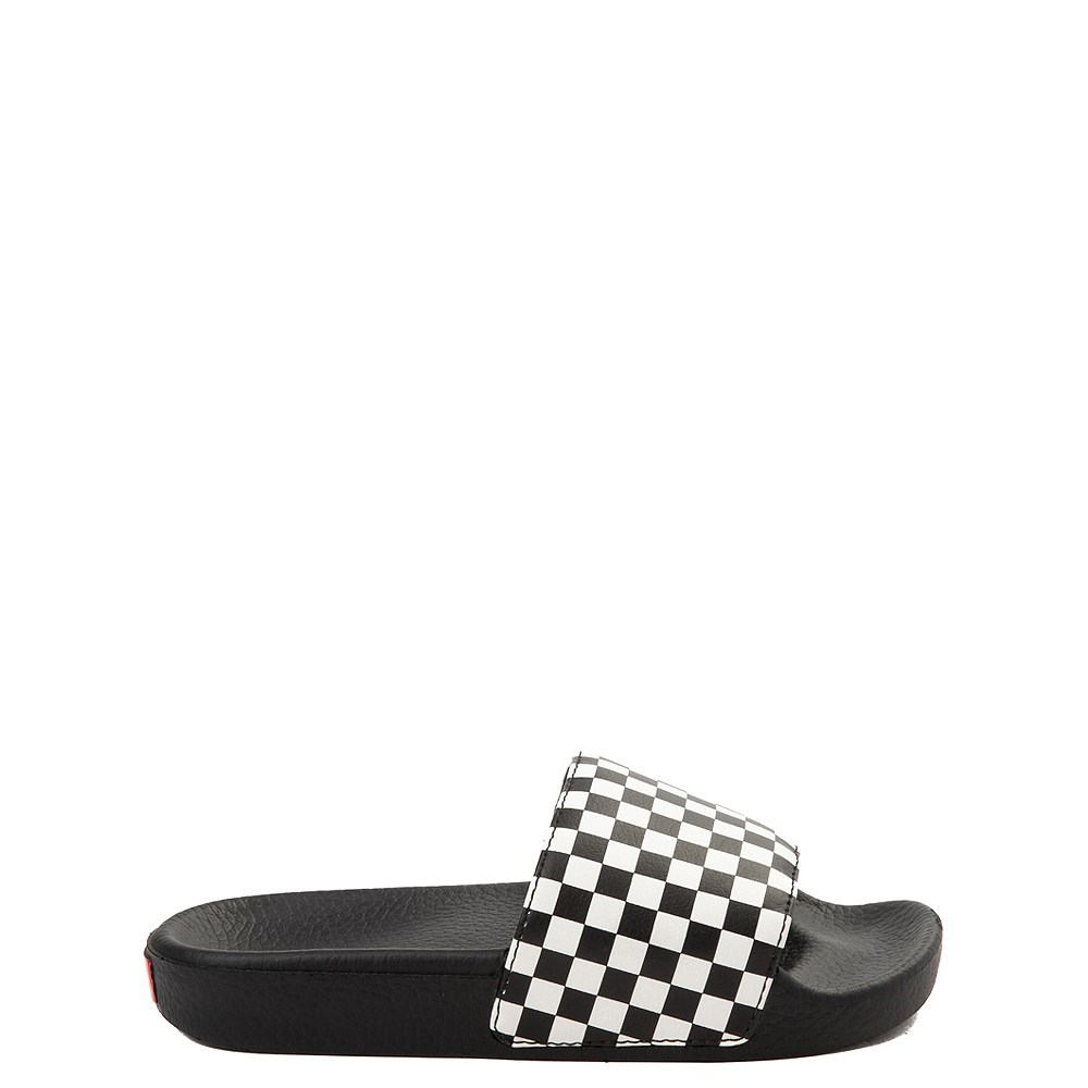 Vans Slide On Checkerboard Sandal - Little Kid / Big Kid - Black / White