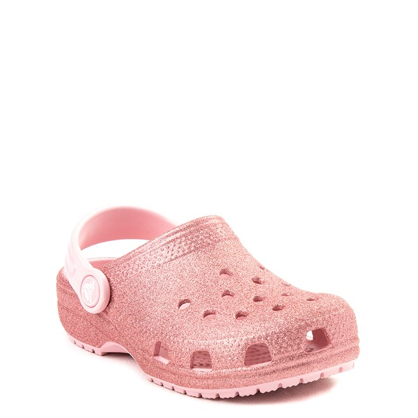 alternate view Crocs Classic Glitter Clog - Baby / Toddler / Little Kid - Blossom PinkALT1