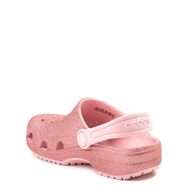 alternate view Crocs Classic Glitter Clog - Baby / Toddler / Little Kid - Blossom PinkALT2