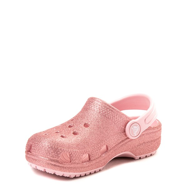 alternate view Crocs Classic Glitter Clog - Baby / Toddler / Little Kid - Blossom PinkALT3