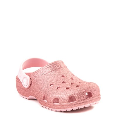 Alternate view of Crocs Classic Glitter Clog - Baby / Toddler / Little Kid - Blossom Pink
