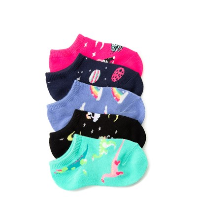 Main view of Dino Glow Socks 5 Pack - Girls Toddler
