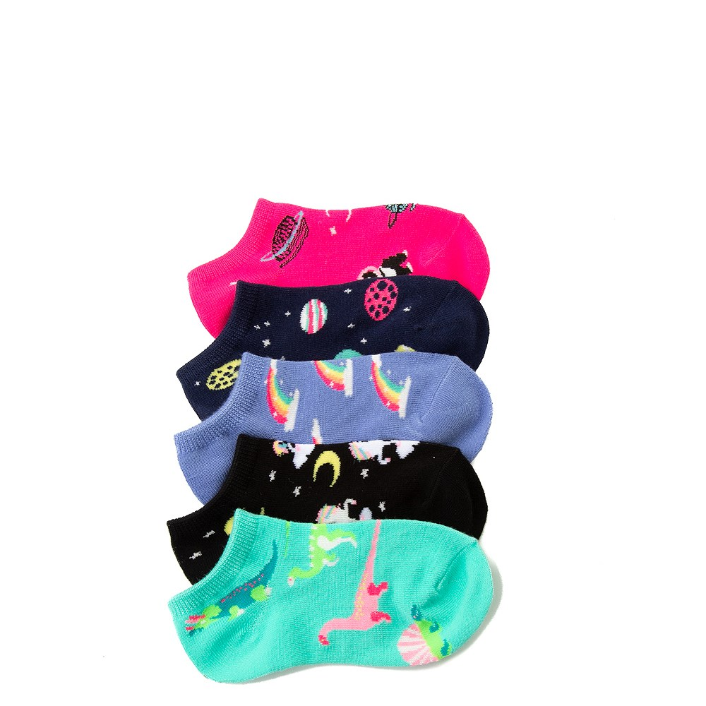 Dino Glow Socks 5 Pack - Girls Little Kid