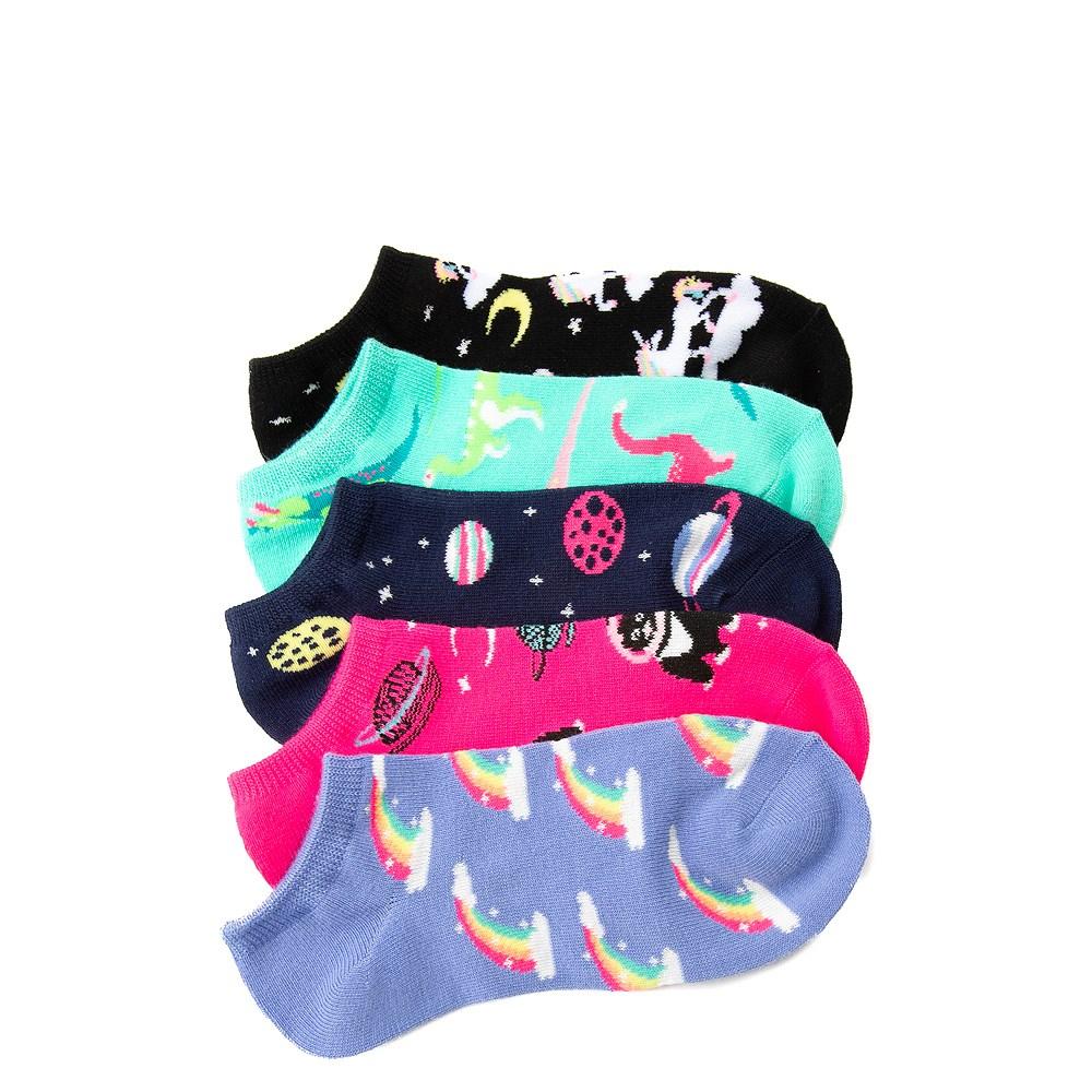Dino Glow Socks 5 Pack - Girls Big Kid