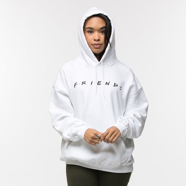 alternate view Womens Friends Hoodie - WhiteALT4