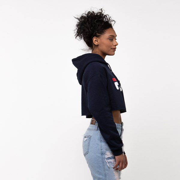 alternate view Womens Fila Cropped HoodieALT3