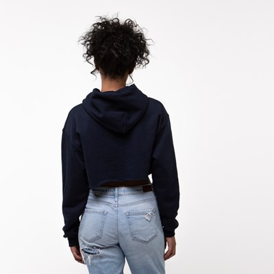 Alternate view of Womens Fila Cropped Hoodie - Navy