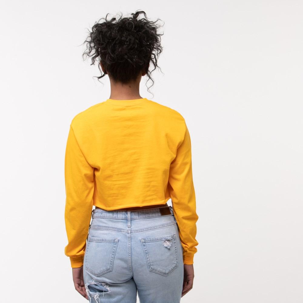 43306e1b Womens Fila Cropped Long Sleeve Tee