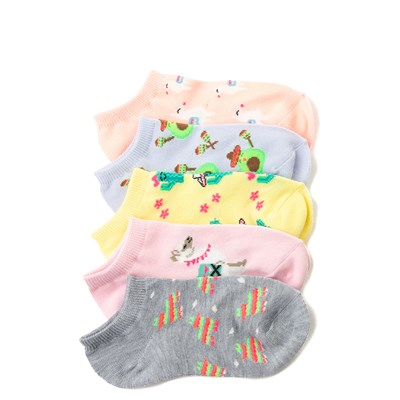 Main view of Llama Glow Socks 5 Pack - Girls Little Kid