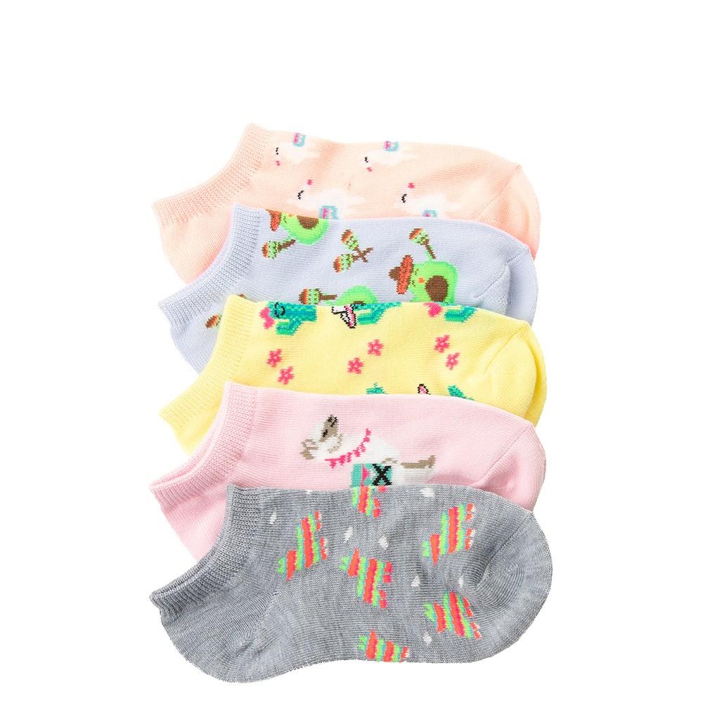 Llama Glow Socks 5 Pack - Girls Little Kid
