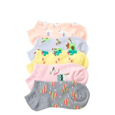 Main view of Llama Glow Socks 5 Pack - Girls Big Kid