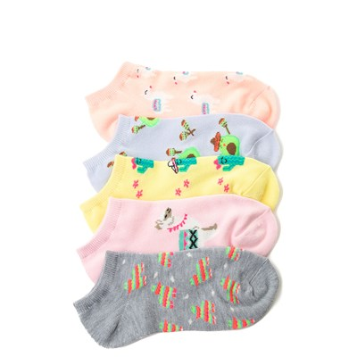 Main view of Llama Glow Socks 5 Pack - Girls Big Kid