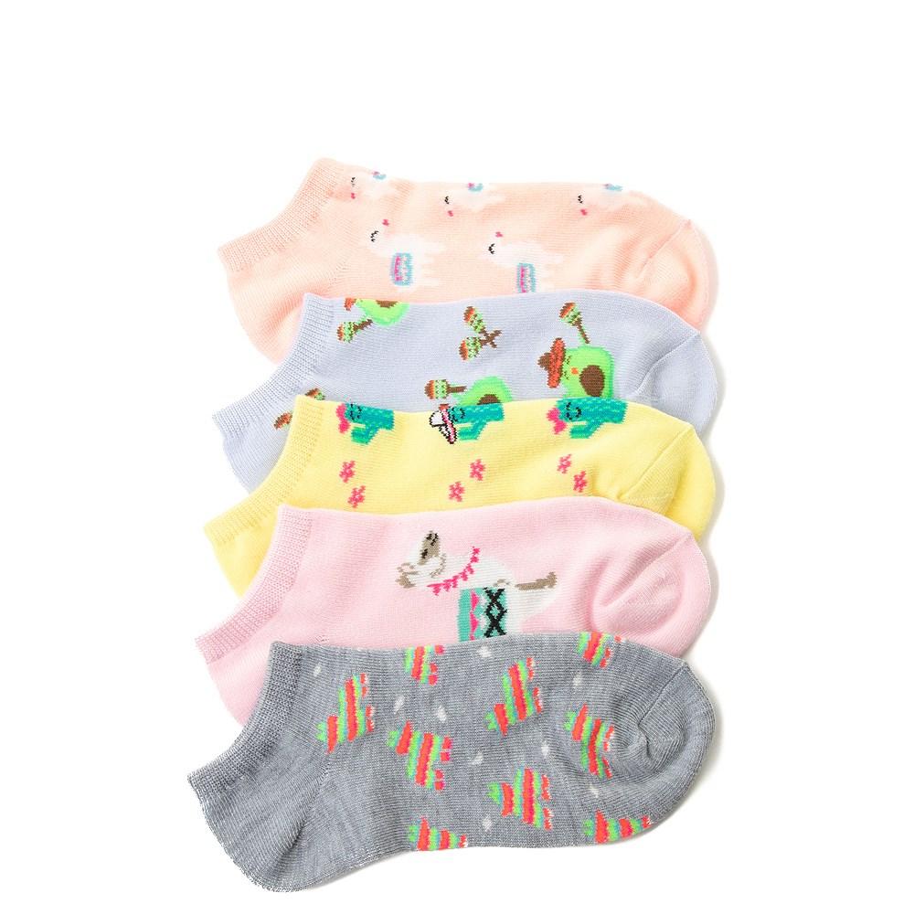 Llama Glow Socks 5 Pack - Girls Big Kid