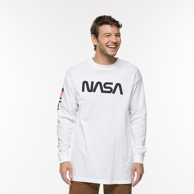 Mens NASA Remix Long Sleeve Logo Tee