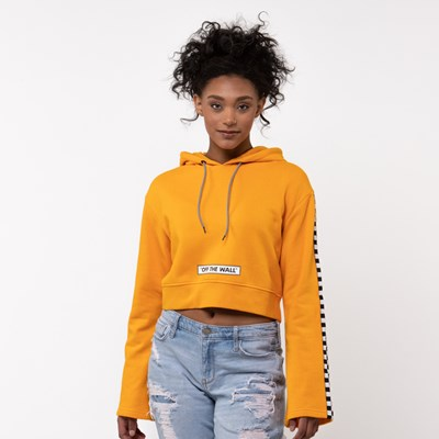 Main view of Womens Vans Checkered Cropped Hoodie