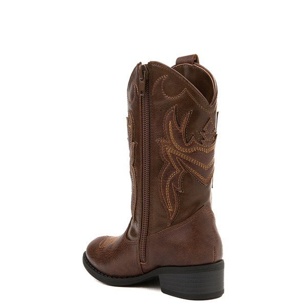 alternate view Frye & Co. Bailey Patch Western Boot - Little Kid / Big KidALT2