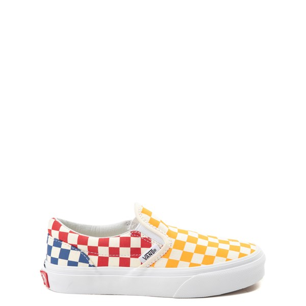 Default view of Vans Slip On Color-Block Chex Skate Shoe - Little Kid / Big Kid