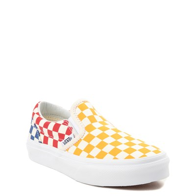 Alternate view of Vans Slip On Color-Block Chex Skate Shoe - Little Kid