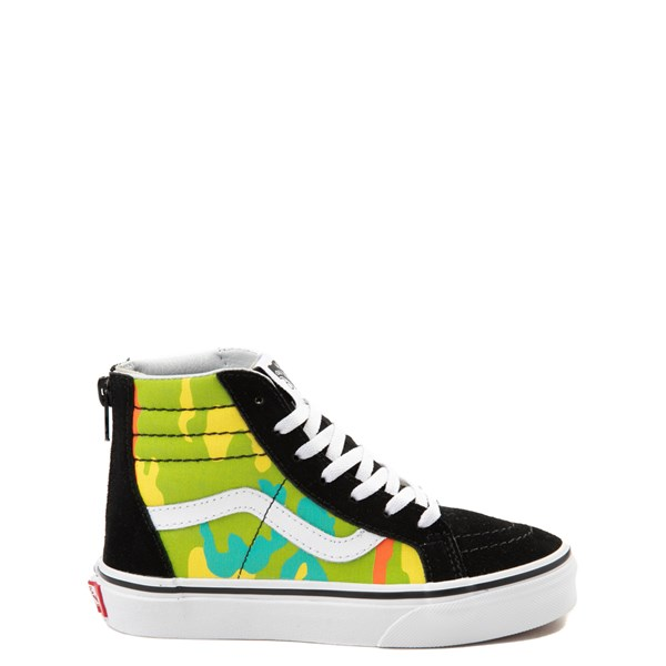 Vans Sk8 Hi Zip Pop Camo Skate Shoe - Little Kid / Big Kid