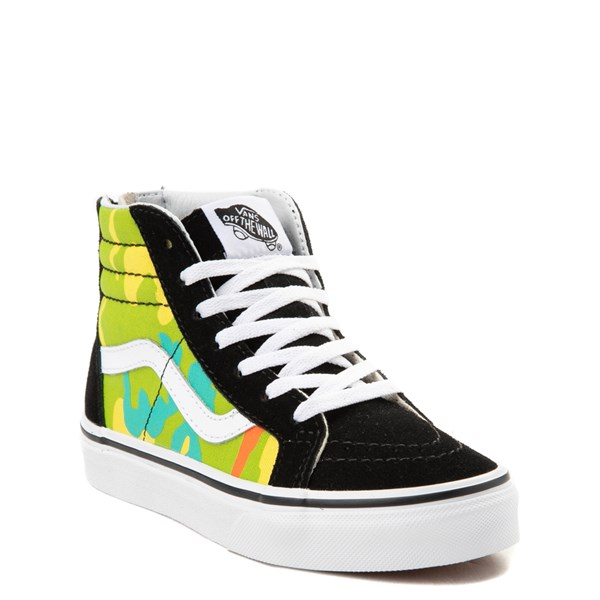 Alternate view of Vans Sk8 Hi Zip Pop Camo Skate Shoe - Little Kid / Big Kid