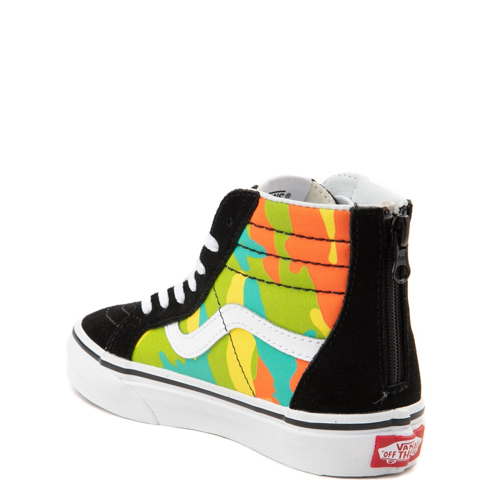 Vans Sk8 Hi Zip Pop Camo Skate Shoe Little Kid Big Kid