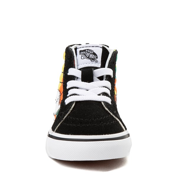 alternate view Vans Sk8 Hi Zip Pop Camo Skate Shoe - Toddler - Black / MultiALT4