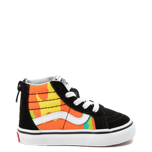 Vans Sk8 Hi Zip Pop Camo Skate Shoe - Toddler - Black / Multi