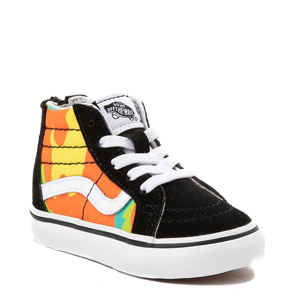 Alternate view of Vans Sk8 Hi Zip Pop Camo Skate Shoe - Toddler