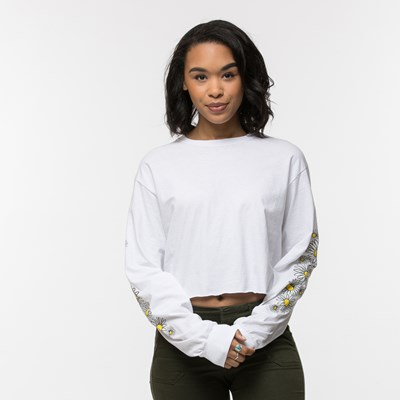Womens Daisy Cropped Long Sleeve Tee