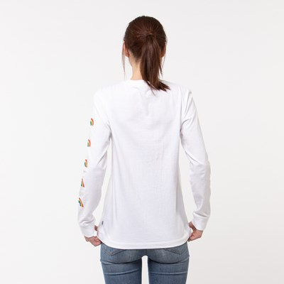 Alternate view of Womens Vans Rainbow Long Sleeve Boyfriend Tee - White