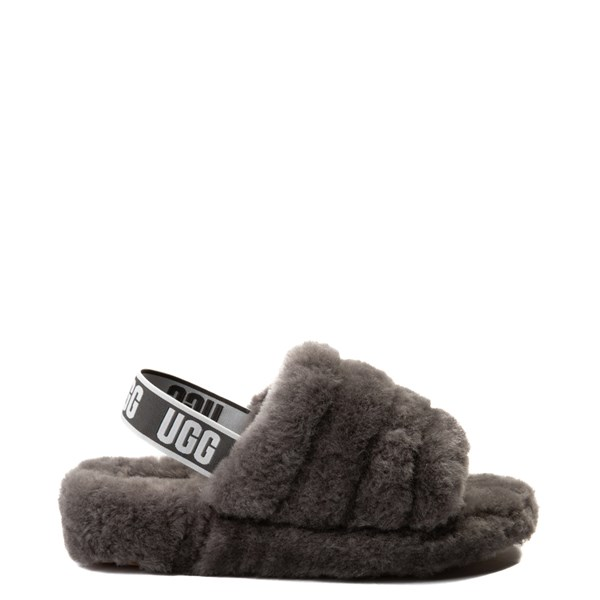 Default view of Womens UGG® Fluff Yeah Slide Sandal - Gray