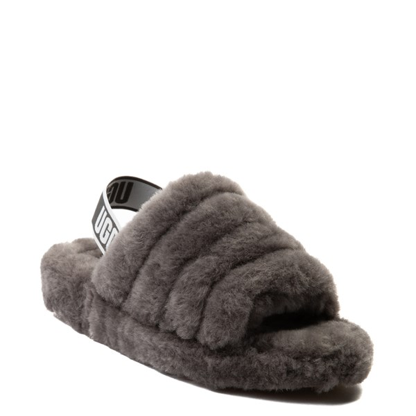 alternate view Womens UGG® Fluff Yeah Slide Sandal - GrayALT1