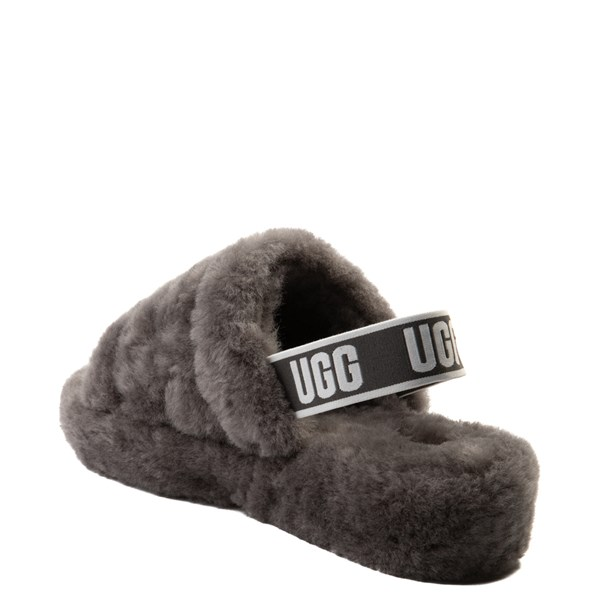 alternate view Womens UGG® Fluff Yeah Slide Sandal - GrayALT2
