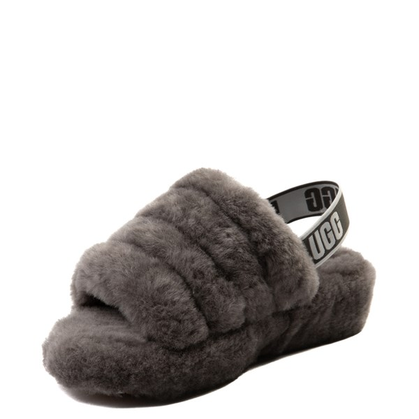 alternate view Womens UGG® Fluff Yeah Slide Sandal - GrayALT3