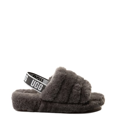 Main view of Womens UGG® Fluff Yeah Slide Sandal - Gray