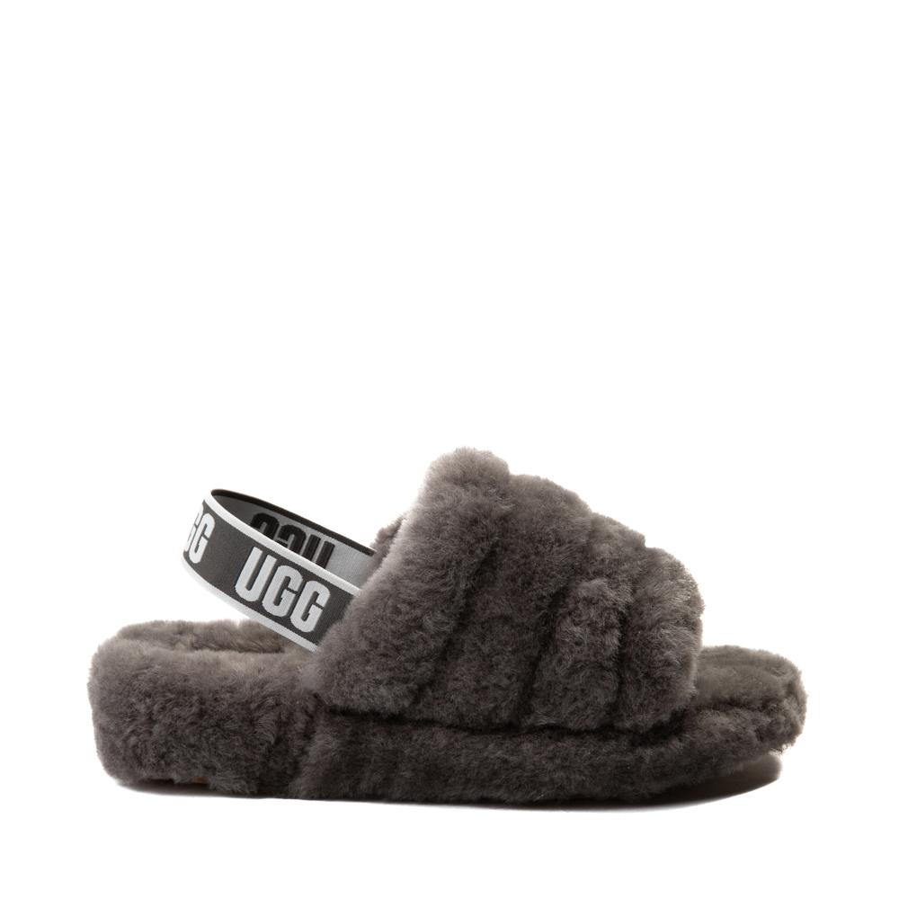 Womens UGG® Fluff Yeah Slide Sandal - Gray