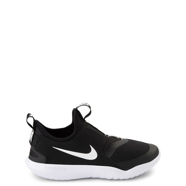 Nike Flex Runner Slip On Athletic Shoe - Little Kid - Black / White