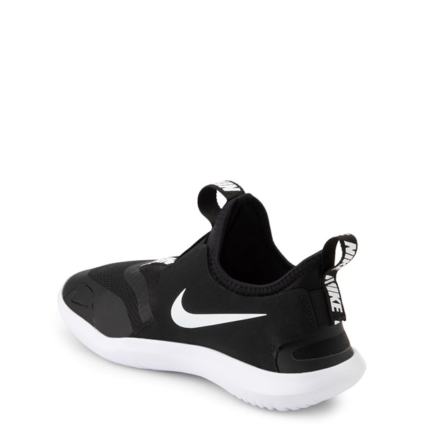 alternate view Nike Flex Runner Slip On Athletic Shoe - Big Kid - BlackALT1
