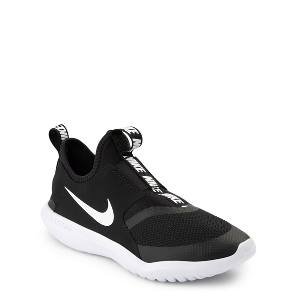 alternate view Nike Flex Runner Slip On Athletic Shoe - Big Kid - BlackALT5