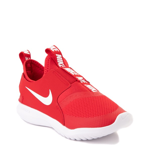 alternate view Nike Flex Runner Slip On Athletic Shoe - Little Kid - RedALT5