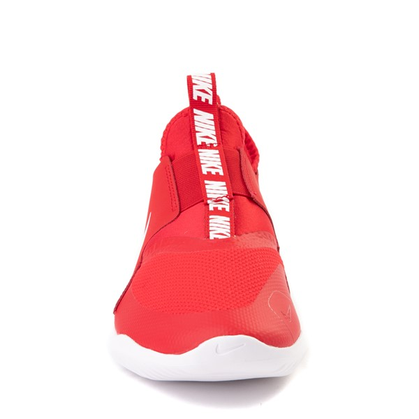 alternate view Nike Flex Runner Slip On Athletic Shoe - Big Kid - RedALT4