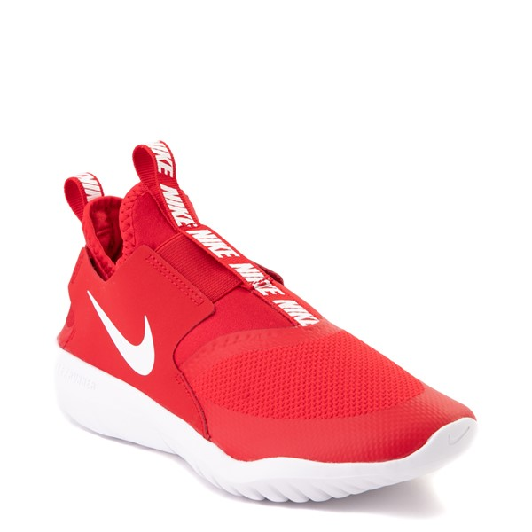 alternate view Nike Flex Runner Slip On Athletic Shoe - Big Kid - RedALT5