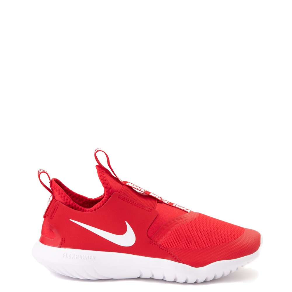Nike Flex Runner Slip On Athletic Shoe - Big Kid - Red