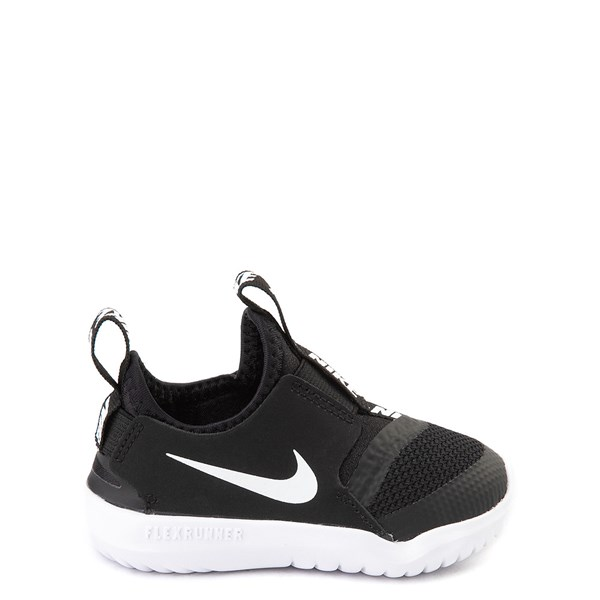 Nike Flex Runner Slip On Athletic Shoe - Baby / Toddler - Black / White