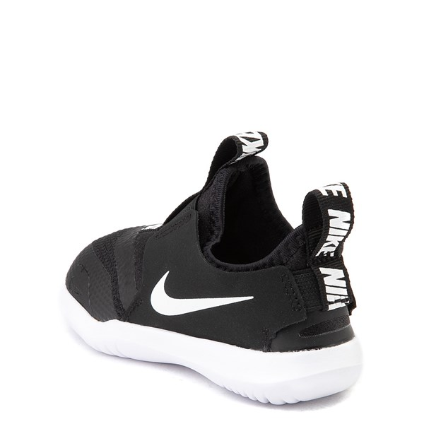 alternate view Nike Flex Runner Slip On Athletic Shoe - Baby / Toddler - Black / WhiteALT2