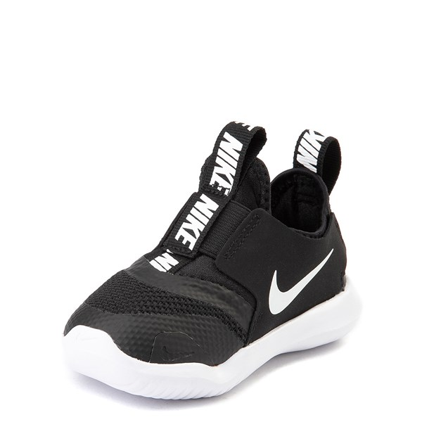 alternate view Nike Flex Runner Slip On Athletic Shoe - Baby / Toddler - Black / WhiteALT3